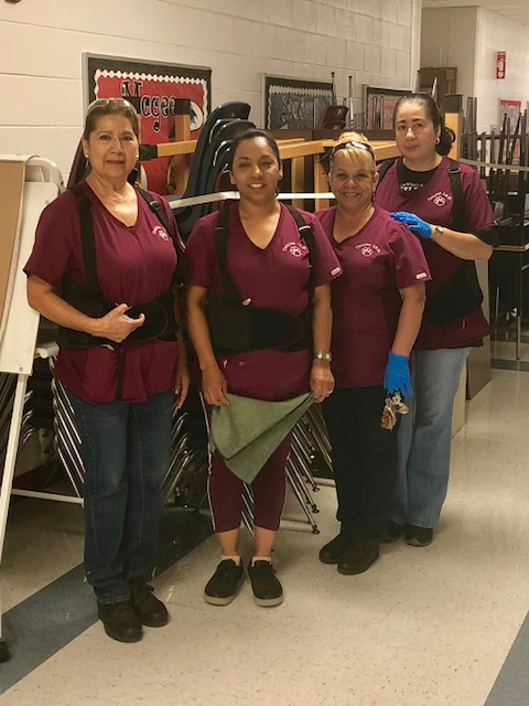 Thank you to our hardworking custodians who are busy cleaning and getting the school ready for 2018 - 2019!!