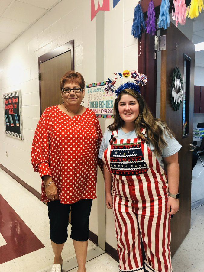 Magee staff and students celebrated  #redwhiteandblue day for Freedom Week!!! Hope to see all in Stars and Stripes tomorrow!