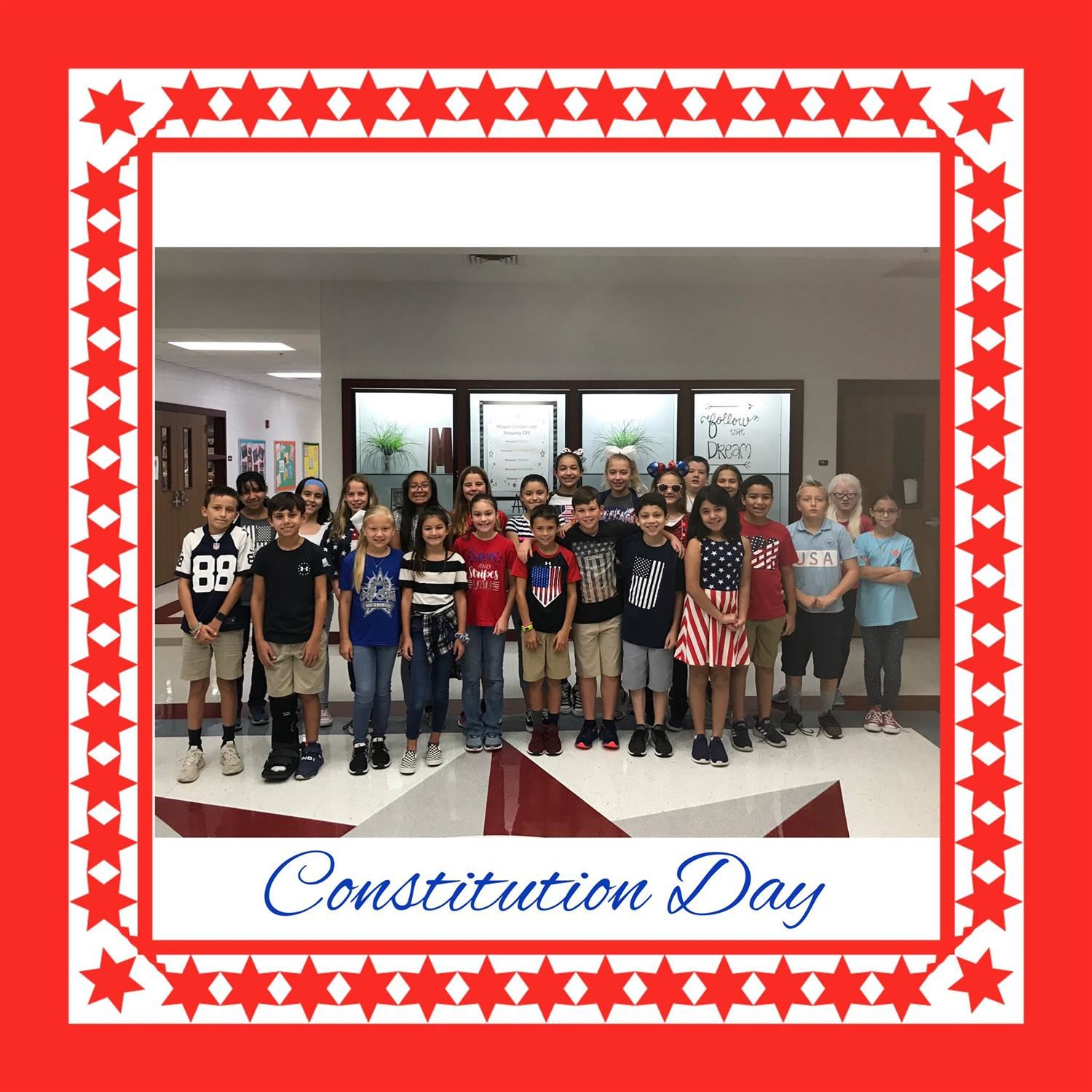 Stars and Stripes @ Magee! #ConstitutionDay
