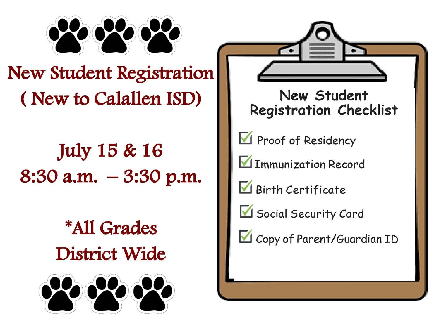 New Student Registration (New to CISD)