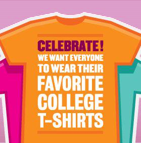 College T-shirt Day - Wednesday, November 6th