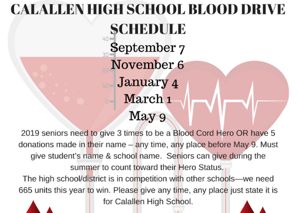 Blood Drive Schedule